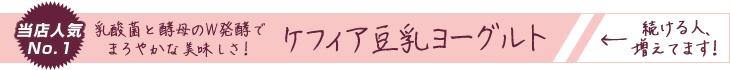 ケフィア豆乳ヨーグルト 当店人気No.1
